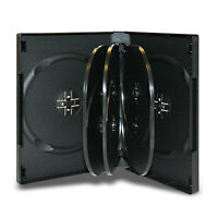 Black Multiple Disc CD DVD Blu Ray Media Storage Case Holder Wholesale Lot