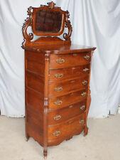 Antique Six drawer Oak Hiboy Chest of Drawers High Boy Dresser