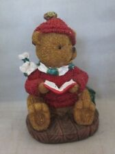 K's Collection Bear reading Book wearing Sweater