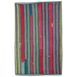 Reversible Kantha Throw Rally Quilts Vintage Gudri Boho Twin Bedspread