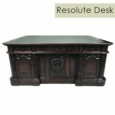 Solid Mahogany Wood Hand Carved Office Executive Large Resolute/President Desk