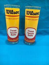 Vintage Wilson Championship Drinking Glasses Set Of 2