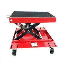 Wide Motorcycle/ATVs Scissor Jack Lift Bikes Engine Stand with 4 Swivel Casters