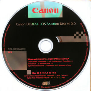 CANON DIGITAL EOS SOLUTIONS DISK 10.0 • OSX 10.1.5 TO 10.3 • WINDOWS 98/2000/XP
