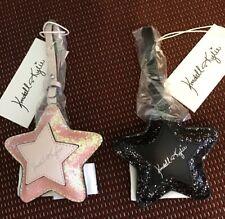 Kendall & Kylie Rosa o Negro Brillo Bolso de Mano Equipaje Encanto Estrella Accesorio Nuevo