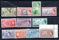 Bermuda 1953 QEII mint collection to 2/- (11V) WS18913