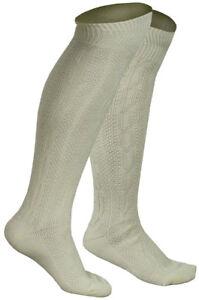 WHITE HIGH QUALITY BAVARIAN SOCKS OKTOBERFEST / CAUSAL LEDERHOSEN SOCKS IN PAIRS