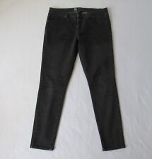 Mossimo Womens Leggings Jeggings Size 14 Stretch Gray Black Faux Front Pockets