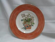 Wedgwood Sarah's Garden, Terracotta Band, Flower Pot: Salad Plate, 8 1/4""