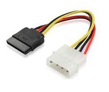 10PCS 4 Pin IDE Molex to 2 Serial ATA SATA Hard Drive Power Adapter Cable wire