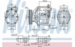 NISSENS Compressore climatizzatore 12V 890047 - Auto Pezzi Mister Auto