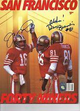 Joe Montana/Russ Francis San Francisco 49ers Signed Yearbook Photo Montana Holo