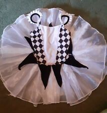 Ids harlequin tutu black and white size lc about 9/10 good condition