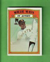 1972 TOPPS #50 WILLIE MAYS IN ACTION SAN FRANCISCO GIANTS HALL OF FAME EX+