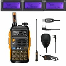 Neu Baofeng GT-3TP MarkIII 1/4/8W Dual UHF VHF Talky Walky w/ Haut Parleur Cable