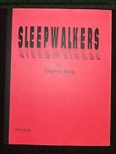 Sleepwalkers Final Draft Screenplay Stephen King
