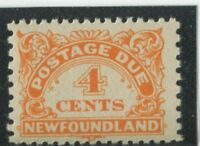 Newfoundland Stamps #J4 MINT,NH,F-VF (G7749N)