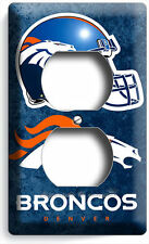 Denver Broncos Team Logo Football Duplex Outlet Wall Plate Cover Boys Bedroom Db