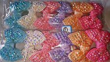 Joblot 12pcs  Mixed color Bow Sparkly hairclips hairgrips NEW wholesale lot 1