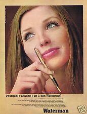 Publicité Advertising 026 1967 Waterman stylo à plume