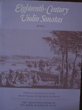 EIGHTEENTH CENTURY VIOLIN SONATAS Book 2 pub. ABRSM