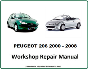 Peugeot 206 and 206cc 2000 - 2008 The Official Workshop Service Manual DOWNLOAD!