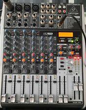 Behringer XENYX QX1204 USB Mischpult 12-Kanal Mixer 60 mm Fader Mikrofon Kanal