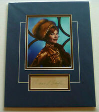 Anne Baxter Authentic Signed Auto Matted Photo, Batman, Olga, Queen of Cossacks