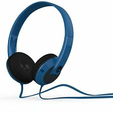 Skullcandy Uprock On-Ear Pillows Stereo Headphones Tangle Free Flat Cable Blue