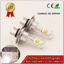 2 X H7 40W CREE LED Super White Fog Driving Car Light Lamp Bulb 800LM  AC 12-30V