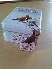 Vintage The Famous Grouse Collectible Tin with Keying (enameled)