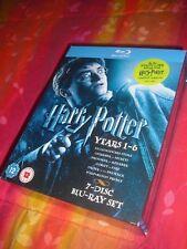 Harry Potter - Film 1/6 - Cofanetto Blu Ray UK - ITALIANO COMPRESO - 7 dischi