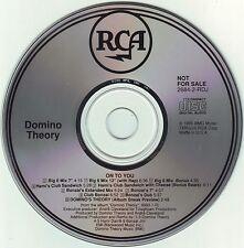 DOMINO THEORY On To You  9x+1tr  promo CD Single 1990 RCA HAMi BONZAi JiM