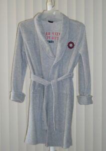 Boys Fleece Robe Gray New Size XL
