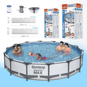 🏊 BESTWAY Swimming Frame Pool Metall Schwimmbad Becken Gartenpool XXL SET Pumpe