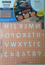 Fiskars ShapeBoss Embossing Stencil Set - Alpha Block  - 4011-  NEW