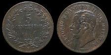 pcc874) Vittorio Emanuele II  (1861-1878) 5 Centesimi 1861 BOLOGNA R2 !!!