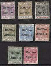 GIBRALTAR OVERPRINTS  1898-00  Eight M.Mint + Gum  Excellent Quality and Looking