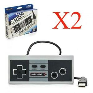 2x Retro-Bit NES Style USB Wired Game Controller for PC / Mac
