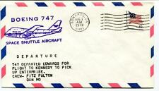 1979 Boeing 747 Space Shuttle Aircraft Fulton Mo Departure Departure Edwards USA