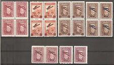 TURKEY 1934 Airmail Fine 4 Sets Sc# C1-C5 Air Post MNH** OG