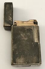 RARE BRIQUET S.T. DUPONT EN METAL ARGENTE @ LIGHTER SILVER PLATED @ A REVISER N2