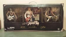 """THIS IS SPINAL TAP 12"""" ACTION FIGURE COLLECTION  SIDESHOW GUITAR CASE & PASS LOT"""