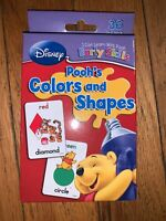 *COLORS & SHAPES*FLASH CARDS,DISNEY,WINNIE THE POOH, Boys Girls Ages 3-7 NEW!