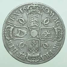 More details for rare 1680/79 charles ii 3rd bust crown, 79 over 80, british silver coin bold gf+