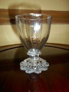 georgian lead eight panel ovoid bowl glass dram, salt