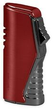 Vertigo Atlas Red Triple Torch Butane Lighter, Large Flame Adjustor