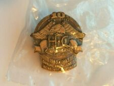 Vintage Harley Davidson 10th Anniversary Pin HOG 1983 1993 Owners Eagle Wing HD
