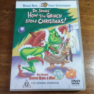 Dr Seuss How the Grinch Stole Christmas Animated DVD R4 LIKE NEW FREE POST