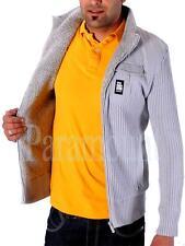Crosshatch Collared Zip Cardigans for Men